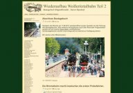 Rebuilding the Weisseritztalbahn